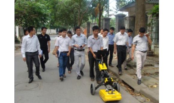 CIC tổ chức thành công các buổi thử nghiệm thiết bị Radar xuyên đất GPR Georadar tại Hà Nội