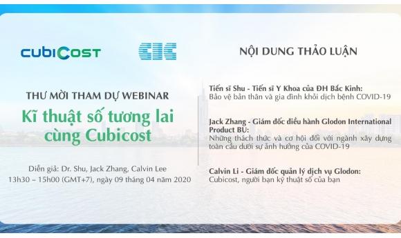 """Phần mềm BIM CubiCost tổ chức Hội nghị online với chủ đề """"Kỹ thuật số tương lai cùng CubiCost"""""""