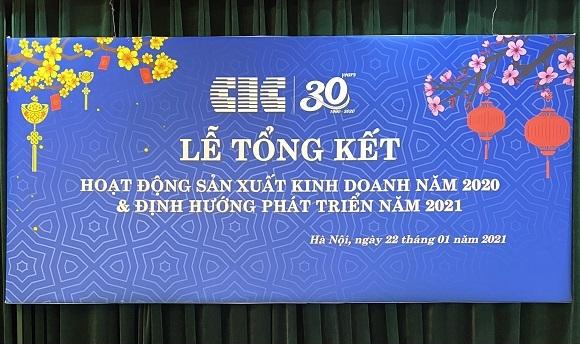 CIC tổ chức Lễ tổng kết hoạt động sản xuất kinh doanh năm 2020 và định hướng phát triển năm 2021