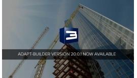 Cải tiến tính năng trong phần mềm ADAPT-Builder v20.0.1 mới...