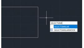 Sử dụng lệnh SELECTSIMILAR trong enjiCAD